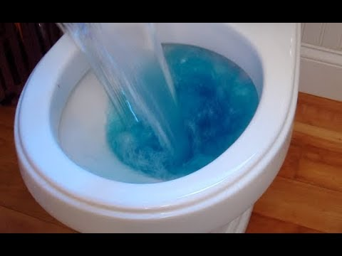 Use soap and hot water to unclug your toilet